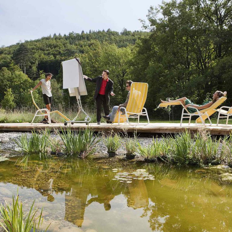 green meeting at the biotope in our Spirit Park